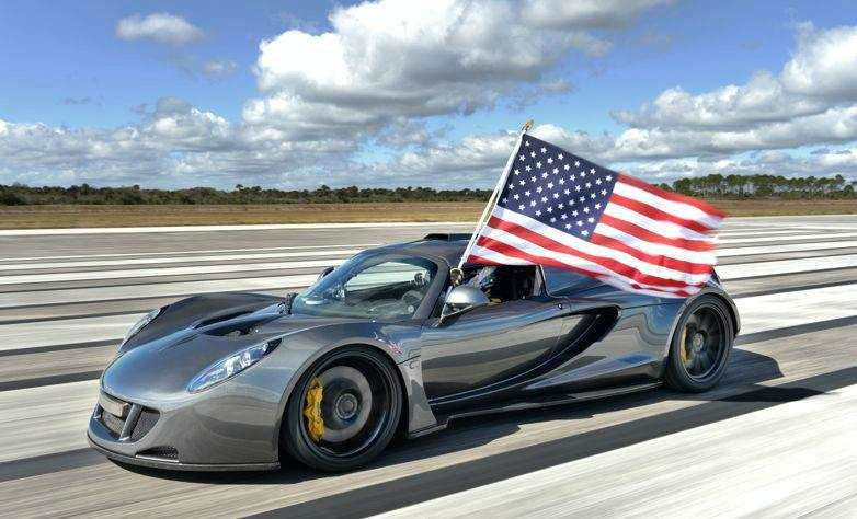 Venom GT is a stretched Lotus Exige with a 7.0-litre, 927kW twin-turbo V8 wedged between its axles with top speed of 435kmph. (Photo from Venom GT official website)