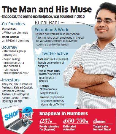 Snapdeal co-founder Kunal Bahl: A rising star of India's e-commerce space
