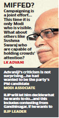 LK Advani joins Rahul Gandhi in criticising BJP for being 'one-man show'