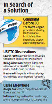 CCI search against Google; US Federal Trade Commission supplies new inputs