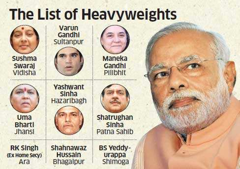Narendra Modi may contest from Varanasi and Ahmebadad East, LK Advani from Gandhinagar