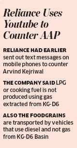 RIL counters AAP's charges with YouTube video, says gas price hike won't cause inflation