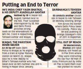 Intelligence Bureau nabs Tehseen Akhtar, foils Indian Mujahideen's motives