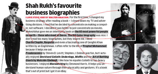 Shah Rukh's favourite business biographies