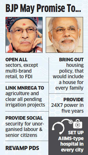 BJP may reverse UPA's decision on FDI in multi-brand retail