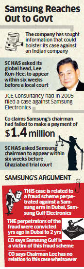 Samsung seeks Indian government's help to defend its chairman Lee Kun-Hee