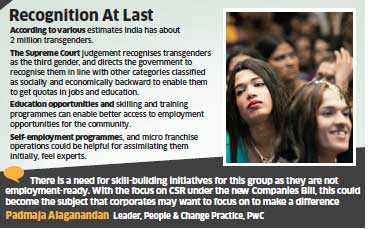 Corporates need to give more attention to training the transgender community
