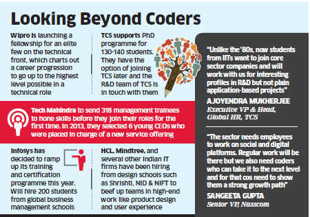 Rebranding exercise: IT companies like Infosys, TCS, Wipro training staff to step up their skills