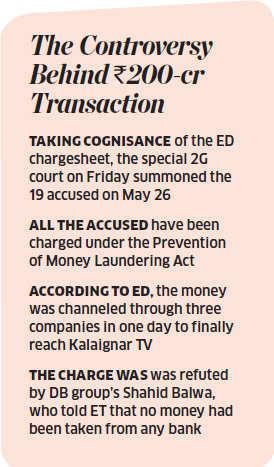 ED says DB took loans from PSU banks to pay Kalaignar TV