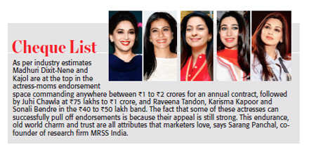 Leading moms: Silver screen divas reinvent themselves, become face of many brands