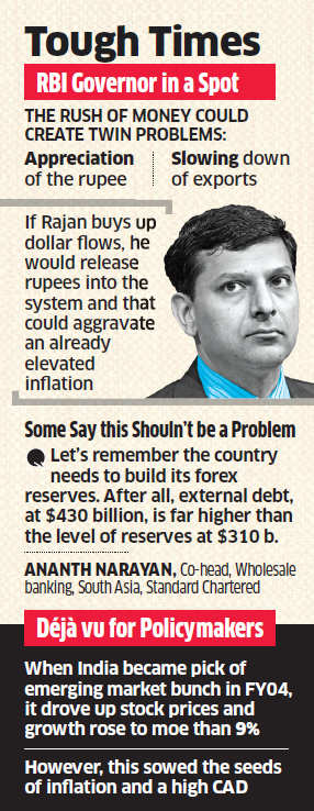 Surging inflows post a Narendra Modi win will challenge RBI's aim of taming inflation and CAD