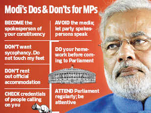 Do not touch my feet or indulge in sycophancy, says Narendra Modi to BJP MPs