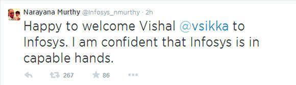 Narayana Murthy's tweet