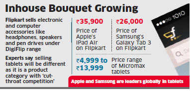 Flipkart to sell tablets under its range of private label electronics DigiFlip