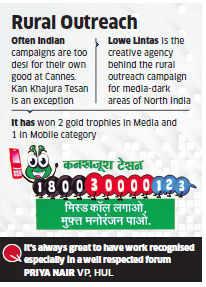 HUL's Kan Khajura Tesan bags three golds at Cannes