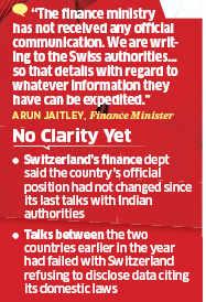 Arun Jaitley denies receiving details from Swiss authorities on evaders