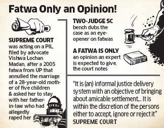 Supreme Court slams Shariat Courts, says fatwas are 'illegal'