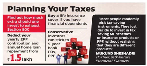 Invest to meet your financial goals and not just to save taxes
