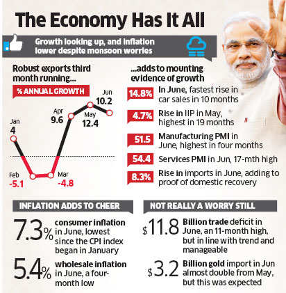 Economy report after one month of Modi government: Growth looks up, inflation cools