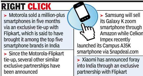 Smartphone companies dial e-tailers to tap buyers