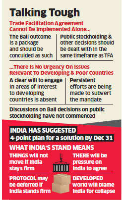 India won't back WTO trade protocol unless food security concerns addressed