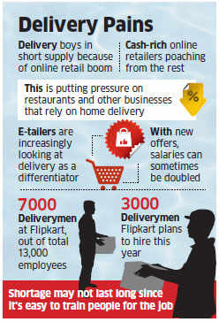 Poaching of deliverymen by e-tailers like Flipkart hurting other sectors