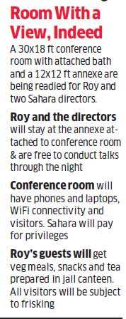 Tihar Turns Biz Centre for Subrata Roy