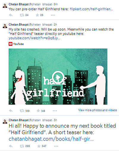 Chetan Bhagat's next book 'Half Girlfriend' due for release in October