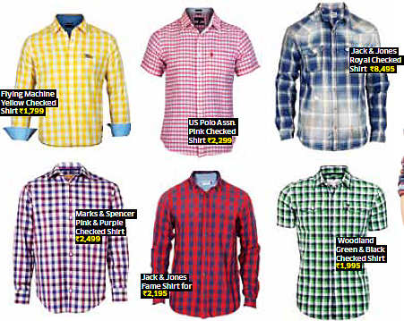 Alert men! Checked shirts a must in your wardrobe