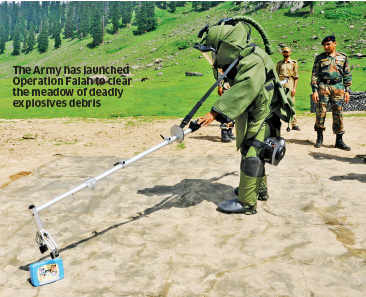 Operation Falah: Army in Jammu and Kashmir clears up explosive debris at Tosa Maidan