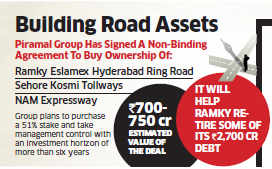 Ajay Piramal Group leads race to buy 3 highway projects of Ramky Infrastructure