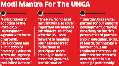 PM's US visit: Narendra Modi calls for stronger global commitment
