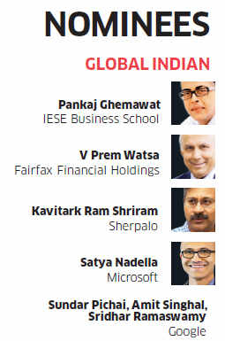 ET Awards 2014: Nominees for Global Indian