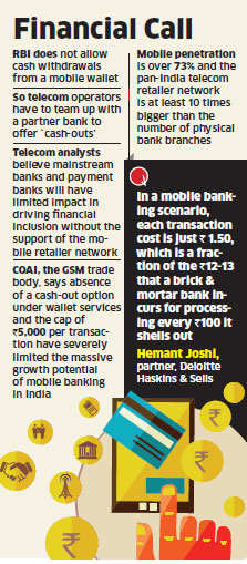 Mobile wallet won't take off unless direct withdrawal allowed: Experts