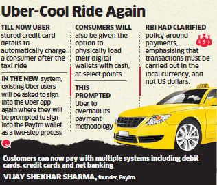 Uber to integrate Paytm's digital wallet into its payment system