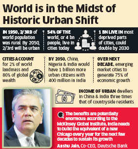 Offer predictable returns to investors in order to finance urbanisation agenda: Anshu jain