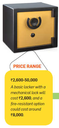 Here are various lockers to secure your valuables and suit your budget