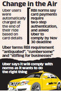 Reserve Bank of India rules hard on us, but we will comply: Uber