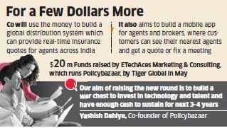 Premji Invest, Iconiq Capital may lead Rs 400 crore investment round in PolicyBazaar