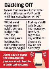 Bharti Airtel withdraws controversial VoIP tariff plan