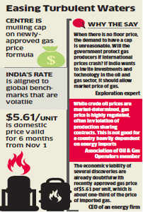 Cap in gas pricing formula in the works to combat global volatility