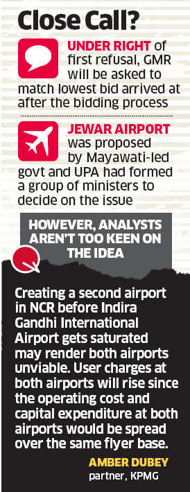 Civil aviation ministry set to offer Jewar Airport project to GMR