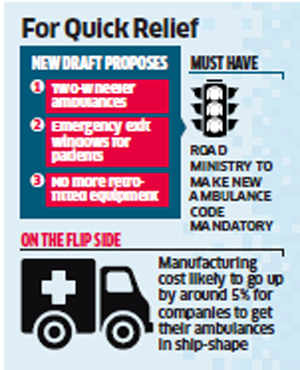 Final draft of ambulance code tweaked to suit Indian needs