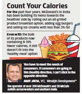 McDonald's cut almost 50-60 calories from burgers