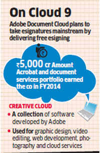 Adobe to launch Adobe Document Cloud - The Economic Times