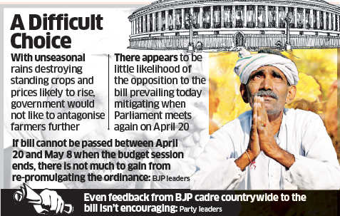 Land Acquisition Bill: Narendra Modi government concerned about political fall-out