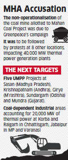 Greenpeace's plan to stall power plants fuels MHA action to suspend NGO's foreign funding