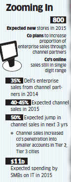 Dell India to double number of stores to 800 in 2015