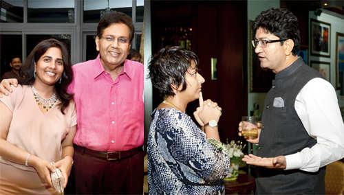 Shalini and Dilip Piramal celebrate Prasoon Joshi's Padma Shri win
