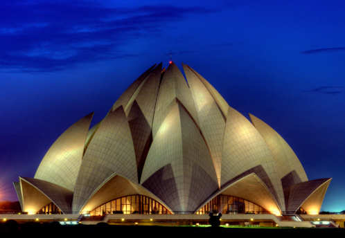 Pollution turns Lotus Temple marble yellow